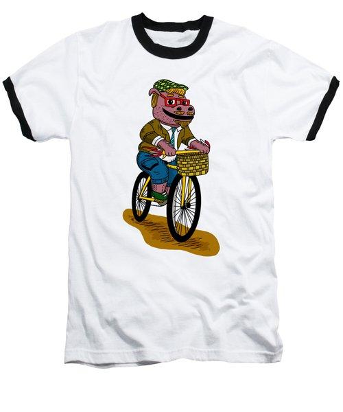 Pun Intended - Hipsterpotamus - Hipsters- Funny Design Baseball T-Shirt
