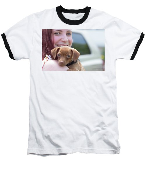 Puppy And Smiles Baseball T-Shirt