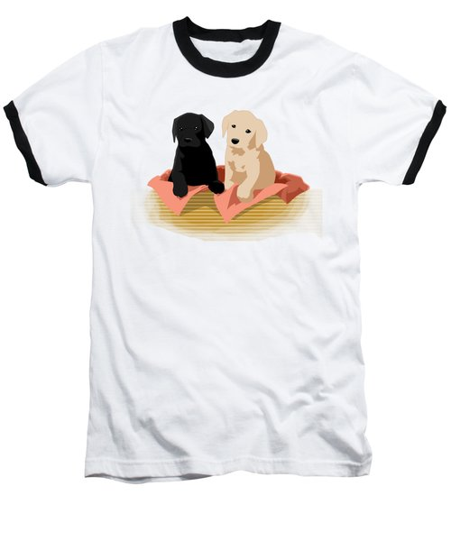 Puppy Basket Baseball T-Shirt