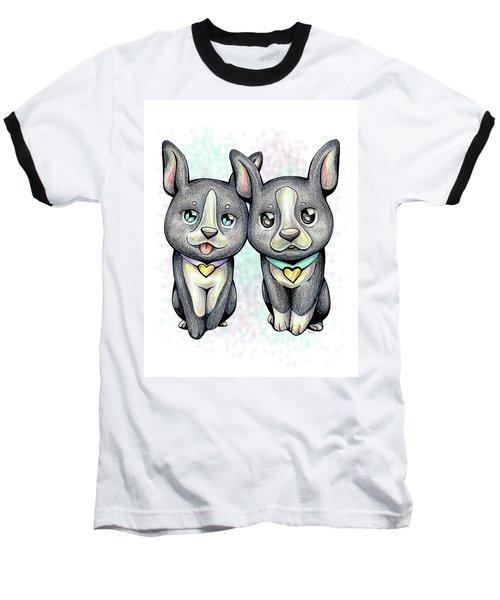 Puppy Love Boston Terrier Baseball T-Shirt