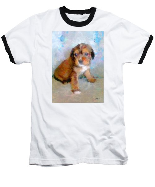 Puppy Love Baseball T-Shirt by Wayne Pascall