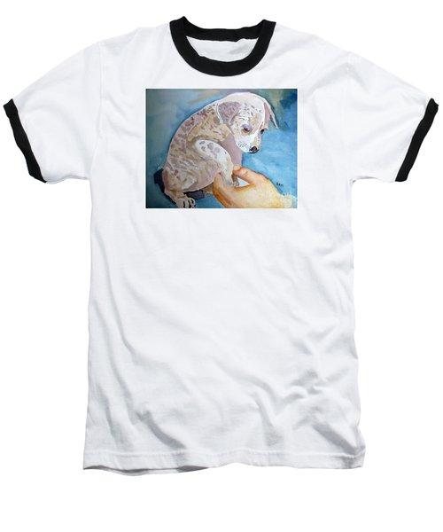 Puppy Shaking Hands Baseball T-Shirt