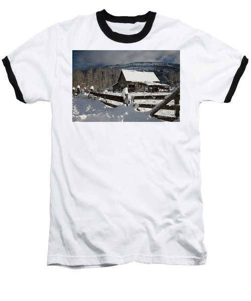 Purcell Mtn Barn Baseball T-Shirt