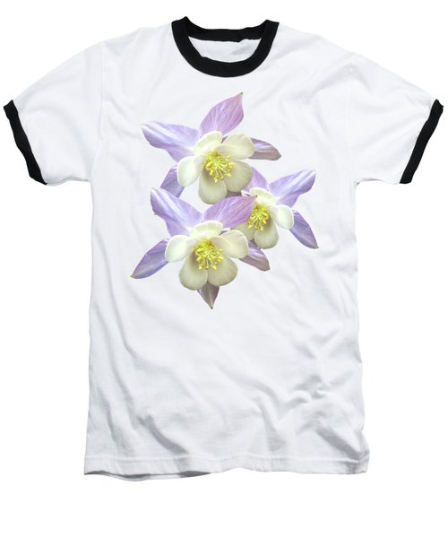 Baseball T-Shirt featuring the photograph Purple Aquilegia by Gill Billington