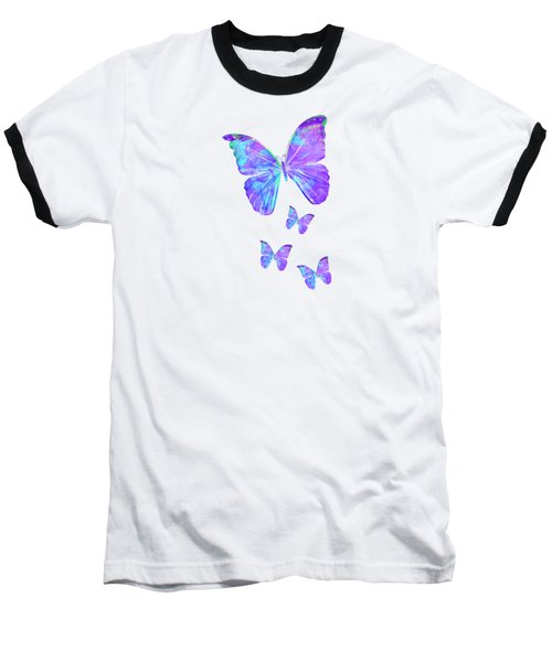 Purple Butterflies By Jan Marvin Baseball T-Shirt