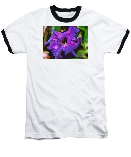Baseball T-Shirt featuring the painting Purple Color Of Royalty by Dragica  Micki Fortuna