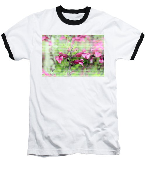 Purple Flower T-shirt Baseball T-Shirt