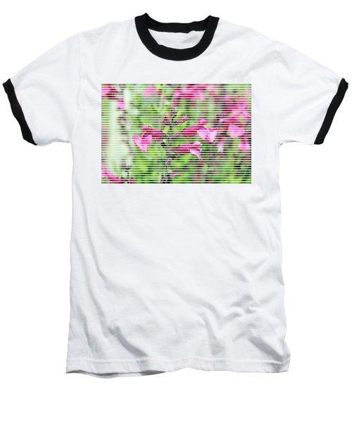 Purple Flower T-shirt Baseball T-Shirt