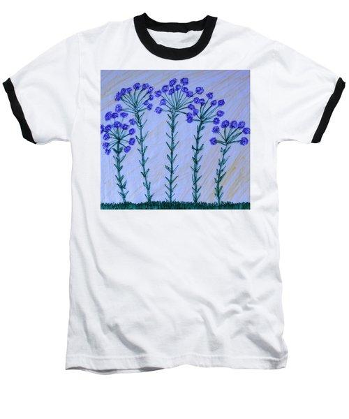 Purple Flowers On Long Stems Baseball T-Shirt