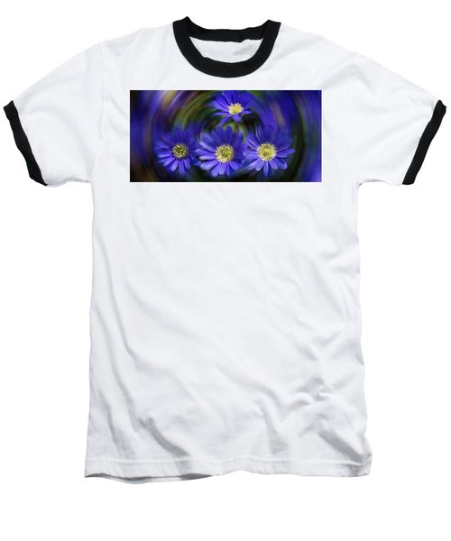 Purple In Nature Baseball T-Shirt by Milena Ilieva