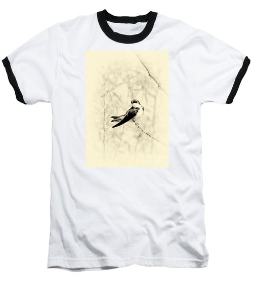 Baseball T-Shirt featuring the photograph Purple Martin by Lila Fisher-Wenzel