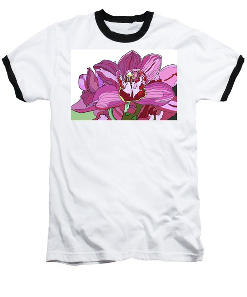 Purple Orchid Baseball T-Shirt by Jamie Downs