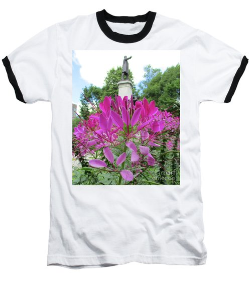 Purple Petals Baseball T-Shirt
