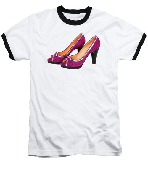 Purple Shoes Baseball T-Shirt