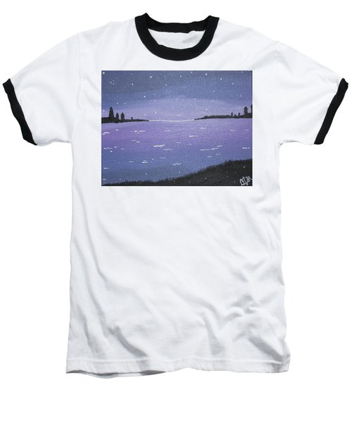 Purple Skies Baseball T-Shirt by Cyrionna The Cyerial Artist