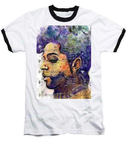 Purple Tears Baseball T-Shirt by Howard Barry