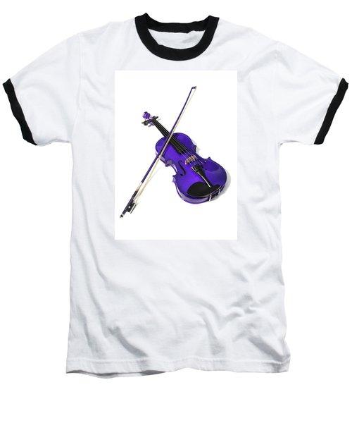 Purple Violin Baseball T-Shirt