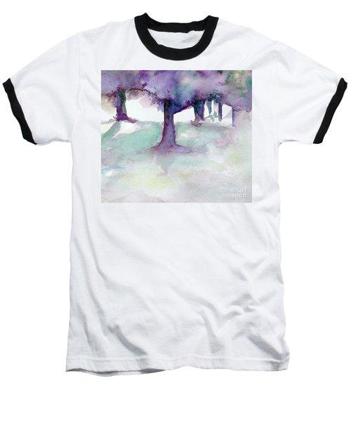 Purplescape II Baseball T-Shirt by Jan Bennicoff