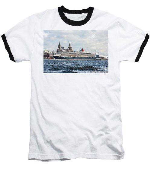 Queen Elizabeth Cruise Ship At Liverpool Baseball T-Shirt
