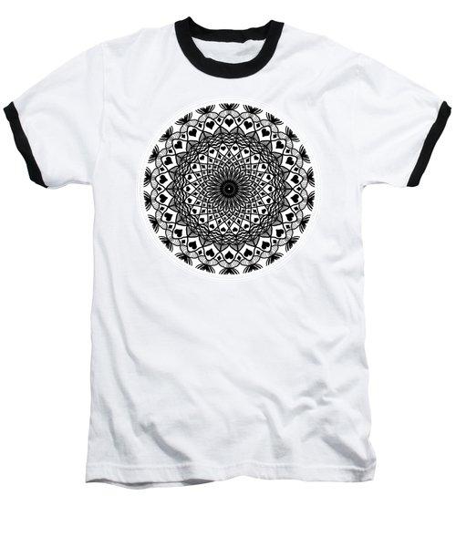 Queen Of Hearts King Of Diamonds Mandala Baseball T-Shirt