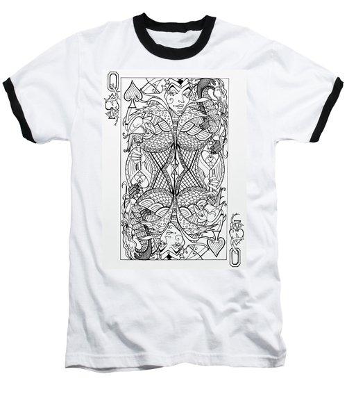 Queen Of Spades  Baseball T-Shirt