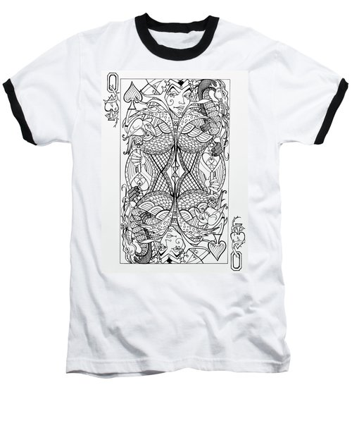Queen Of Spades  Baseball T-Shirt