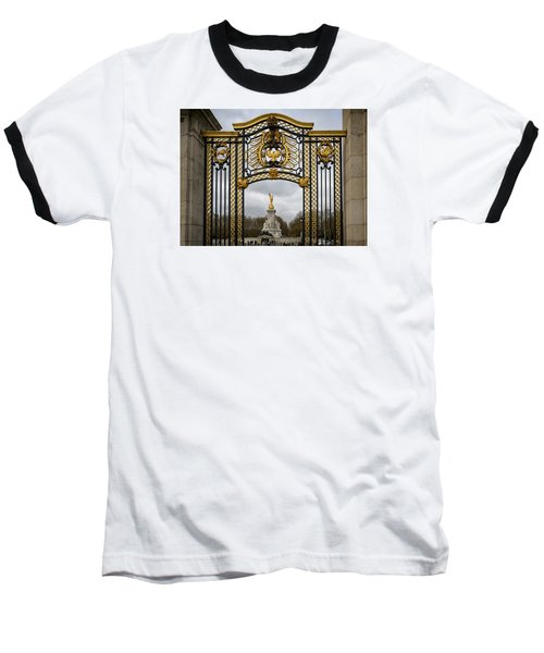 Queen Victoria's Statue Baseball T-Shirt by Shirley Mitchell