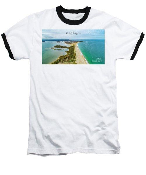 Quonochontaug Beach Baseball T-Shirt