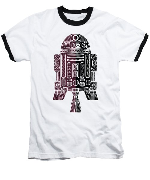 R2d2 - Star Wars Art - Purple Baseball T-Shirt