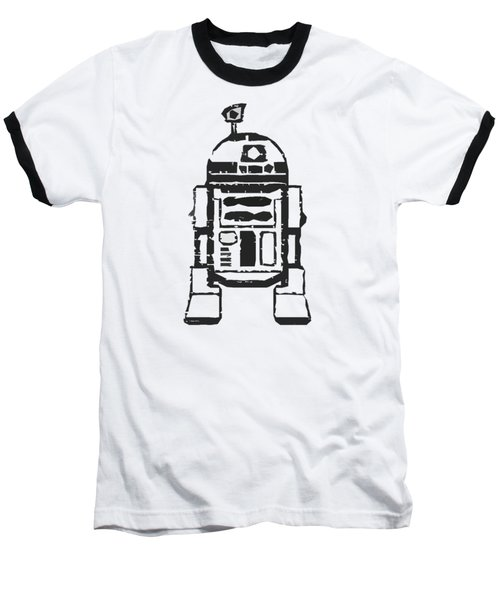 Baseball T-Shirt featuring the drawing R2d2 Star Wars Robot by Edward Fielding