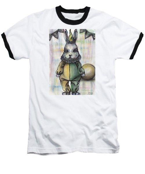 Rabbit Pierrot Baseball T-Shirt by Akiko Okabe