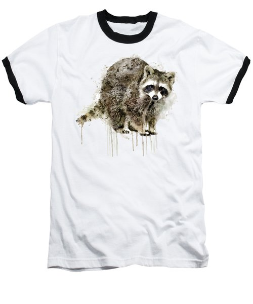 Raccoon Baseball T-Shirt by Marian Voicu