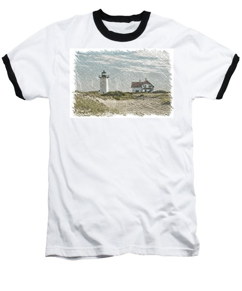 Race Point Lighthouse Baseball T-Shirt by Paul Miller