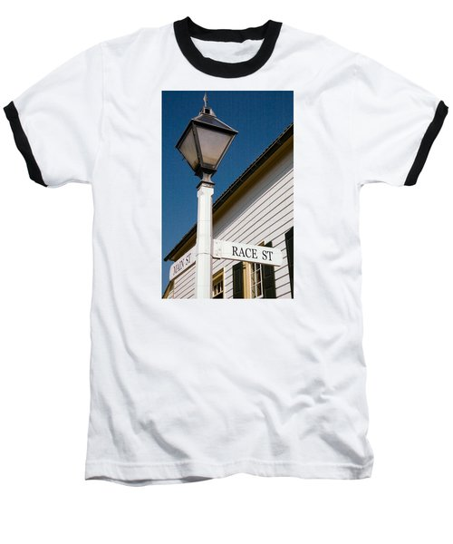 Baseball T-Shirt featuring the photograph Race St Old Salem by Bob Pardue