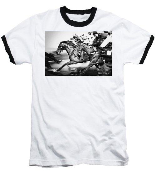 Racing Horses Baseball T-Shirt