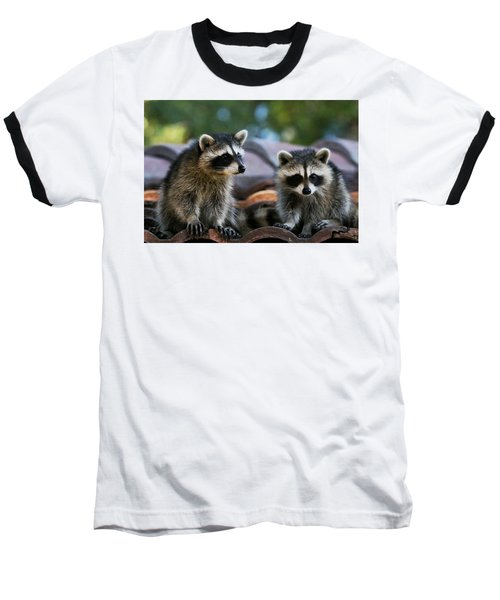 Racoons On The Roof Baseball T-Shirt