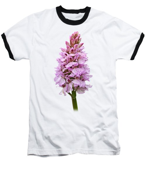 Radiant Wild Pink Spotted Orchid Baseball T-Shirt by Gill Billington
