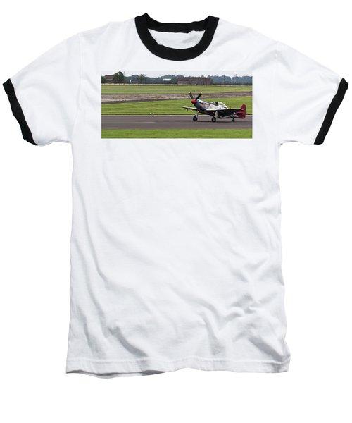 Raf Scampton 2017 - P-51 Mustang Landing Baseball T-Shirt