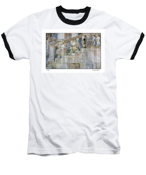 Railing Baseball T-Shirt by R Thomas Berner