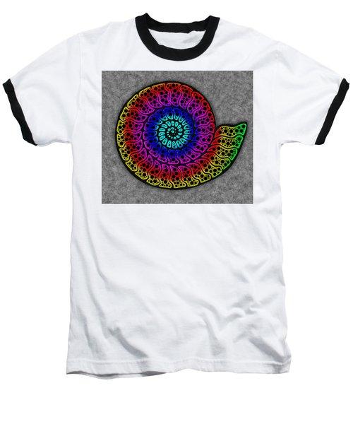 Rainbow Ammonite Baseball T-Shirt