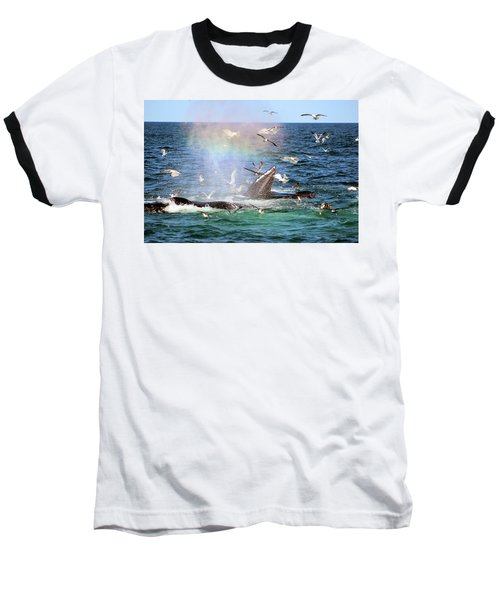 Rainbow In The Spray 1 Baseball T-Shirt