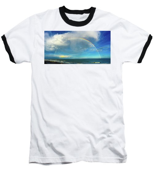 Rainbow Over Topsail Island Baseball T-Shirt