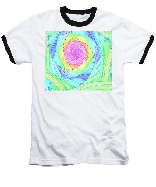 Rainbow Spiral Baseball T-Shirt
