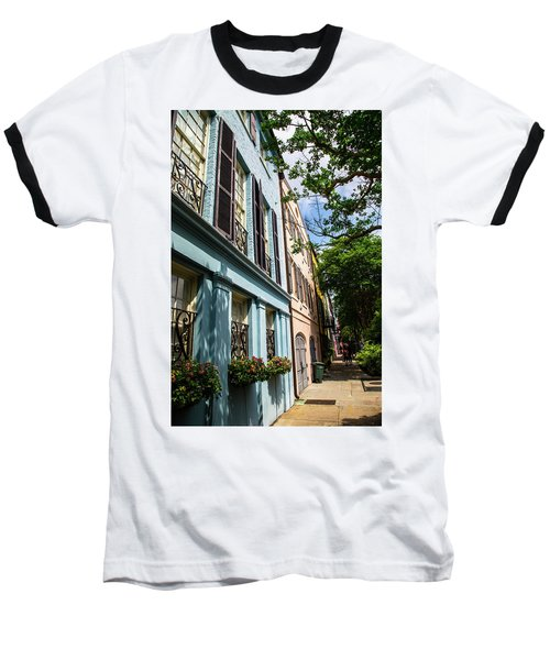 Baseball T-Shirt featuring the photograph Rainbow Street by Karol Livote