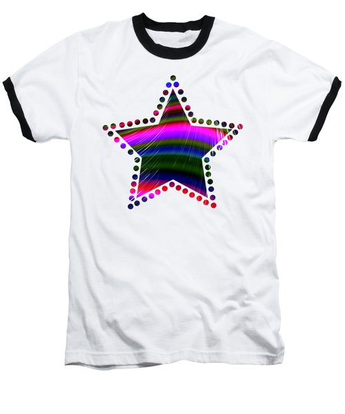 Rainbow Waves Baseball T-Shirt