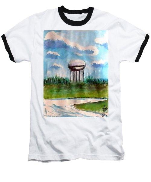 Raines Road Watertower Baseball T-Shirt by Loretta Nash