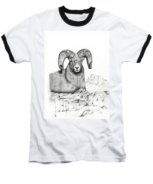 Baseball T-Shirt featuring the drawing Ram by Mayhem Mediums