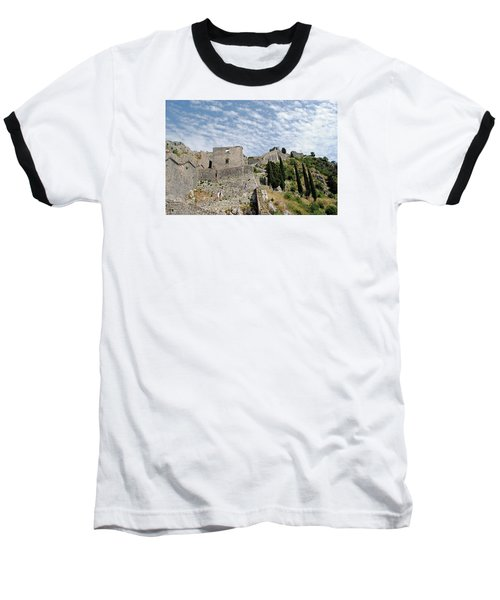 Baseball T-Shirt featuring the photograph Ramparts Of Montenegro by Robert Moss