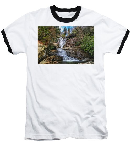 Ramsey Cascades - Tennessee Waterfall Baseball T-Shirt