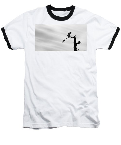 Baseball T-Shirt featuring the photograph Raptor Silhouette by Joe Bonita